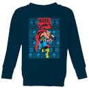 Marvel Avengers Thor Kids Christmas Sweatshirt - Navy