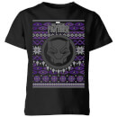 Marvel Avengers Black Panther Kids Christmas T-Shirt - Black