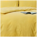 in homeware Washed Cotton Duvet Set - Yellow