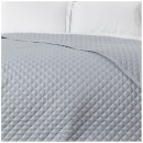 in homeware Diamond Quilted Throw - Silver