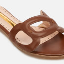 Rupert Sanderson Women's Annabel Leather Flat Sandals - Walnut