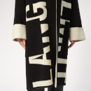 Helmut Lang Women's Logo Coat Large Logo - Black/Natural White