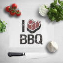 I Love BBQ Chopping Board