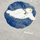 Barbour Girls' Elanor Long Sleeve Snowman T-Shirt - Light Grey Marl