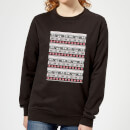 Star Wars AT-AT Pattern Women's Christmas Sweatshirt - Black