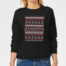 Star Wars On The Naughty List Pattern Women's Christmas Sweatshirt - Black