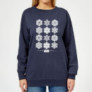 Star Wars Snowflake Women's Christmas Sweatshirt - Navy