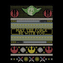 Star Wars May The force Be with You Pattern Women's Christmas T-Shirt - Black