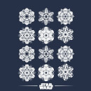 Star Wars Snowflake Women's Christmas T-Shirt - Navy