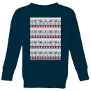 Star Wars AT-AT Pattern Kids Christmas Sweatshirt - Navy
