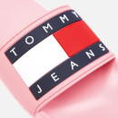 Tommy Jeans Women's Flag Pool Slide Sandals - Geranium Pink