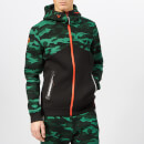 Superdry Sport Men's Gym Tech Spliced Zip Hoody - Forest Camo