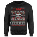 Nintendo NES Pattern Christmas Sweatshirt - Black