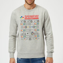 Nintendo SNES Pattern Christmas Sweatshirt - Grey