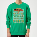 Nintendo Legend Of Zelda Pattern Christmas Sweatshirt - Kelly Green
