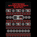 Nintendo NES Pattern Women's Christmas Sweatshirt - Black