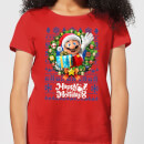 Nintendo Super Mario Happy Holidays Mario Women's Christmas T-Shirt - Red