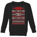 Nintendo NES Pattern Kid's Christmas Sweatshirt - Black