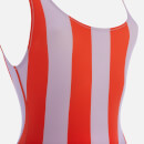 Solid & Striped Women's The Anne-Marie South Beach Swimsuit - Lavender Red Stripe
