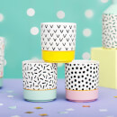 Sass & Belle Set of 3 Memphis Modern Mini Pastel Planters