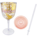 Sass & Belle Plastic Champagne Glass with Gold