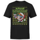 Dexter's Lab Pattern Men's Christmas T-Shirt - Black