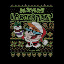 Dexter's Lab Pattern Women's Christmas T-Shirt - Black