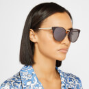McQ Alexander McQueen Women's Oval Frame Acetate Sunglasses - Brown