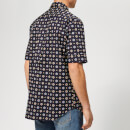 KENZO Men's Patterned Short Sleeve Shirt - Midnight Blue