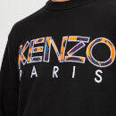 KENZO Men's Pattern Logo Sweatshirt - Black