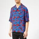 KENZO Men's Phoenix Print Viscose Shirt - Blue