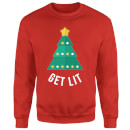 Get Lit Christmas Sweatshirt - Red