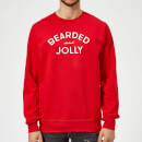 Bearded and Jolly Christmas Sweatshirt - Red