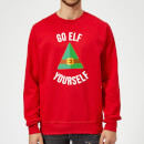 Go Elf Yourself Christmas Sweatshirt - Red