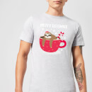 Merry Slothmas Men's Christmas T-Shirt - Grey