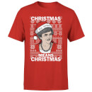 Christmas Means Christmas Men's Christmas T-Shirt - Red