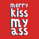Merry KissMyAss Men's Christmas T-Shirt - Red