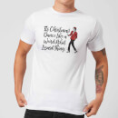 Its Christmas, Dance Like A Weird Robot Men's Christmas T-Shirt - White