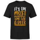 It's The Most Wonderful Time for A Beer Men's Christmas T-Shirt - Black