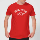 Bearded and Jolly Men's Christmas T-Shirt - Red