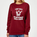 I Got Ho's In Different Area Codes Women's Christmas Sweatshirt - Burgundy