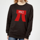 Mince Pi Women's Christmas Sweatshirt - Black
