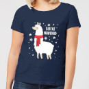 Fleece Navidad Women's Christmas T-Shirt - Navy