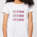 Let It Snow Women's Christmas T-Shirt - White