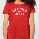 Bearded and Jolly Women's Christmas T-Shirt - Red