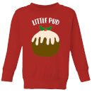 Little Pud Kids' Christmas Sweatshirt - Red