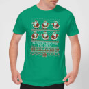 Flossing Through The Snow Men's T-Shirt - Kelly Green