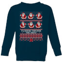 Flossing Through The Snow Kids' Sweatshirt - Navy