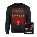 Shaun Of The Dead You've Got Red On You Christmas Sweatshirt and Pin Badge Bundle