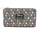 Loungefly Disney Mickey Mouse Minnie Aop Topzip Wallet - Grey